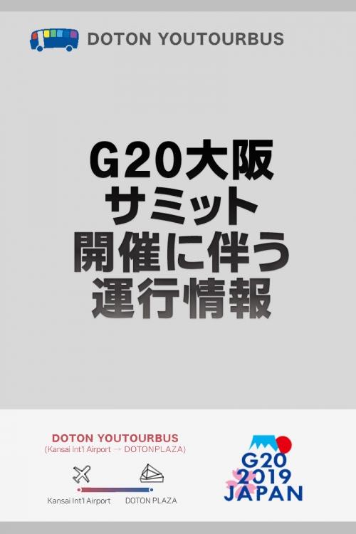 Service information accompanied with G20 Osaka Summit holding